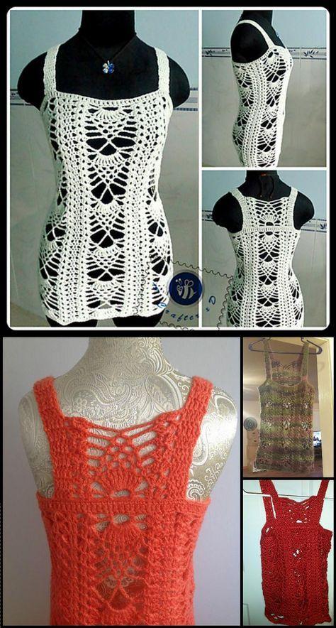Mejores 37 imágenes de Crochet clothes en Pinterest | Ropas de ...