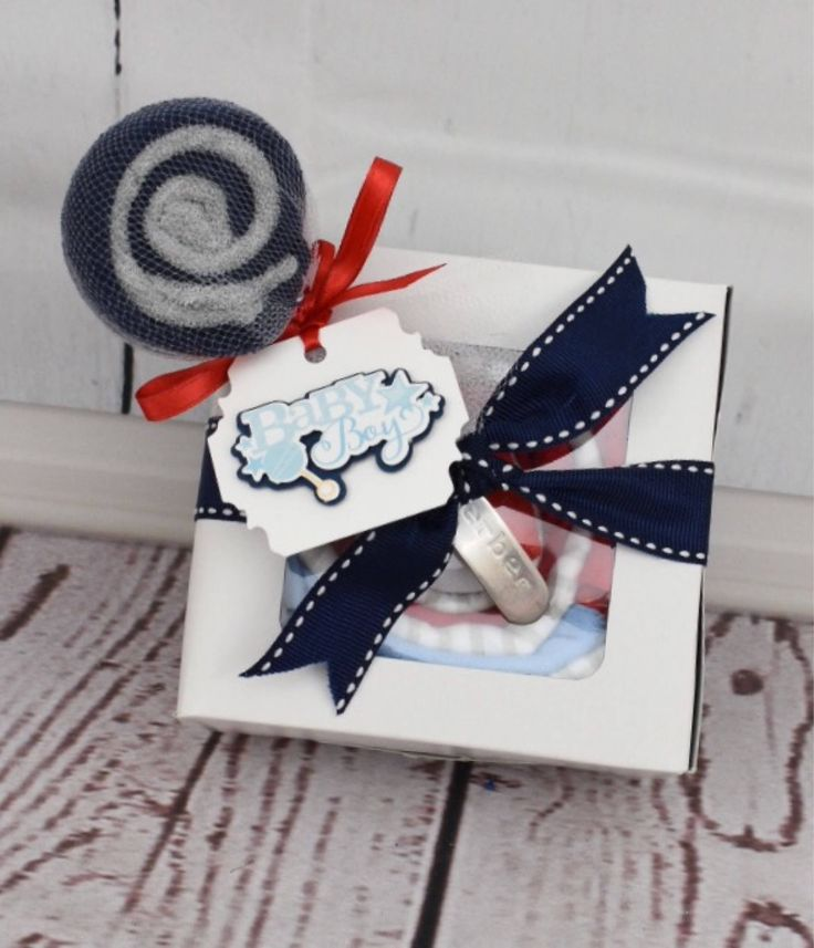 Baby Boy Gift Set | Grandmother Gift for New Baby | Baby Shower Gift | New Parent Gift Basket | New Baby Boy Grandma Gift  Baby Cupcake Gift by HappyToGiveBoutique on Etsy