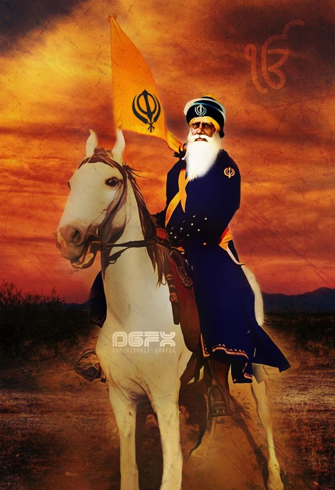 Shaheed Baba Deep Singh Ji by ~SE7EN-OF-N9NE on deviantART