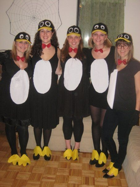 Homemade cheap penguin halloween costumes from a few years ago. Basic…
