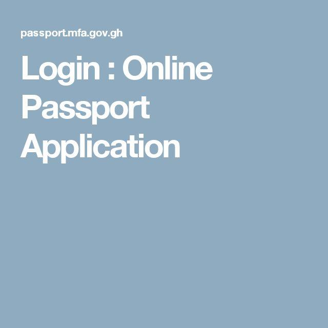 Login : Online Passport Application