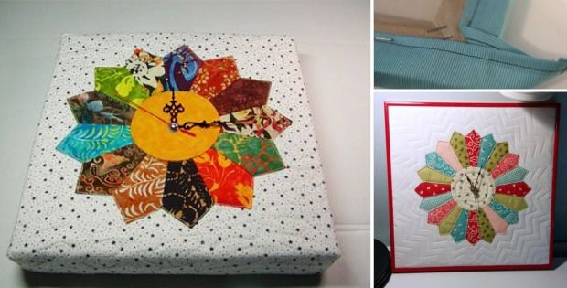Machen Sie eine Uhr aus einem Quiltblock   – My sewing projects