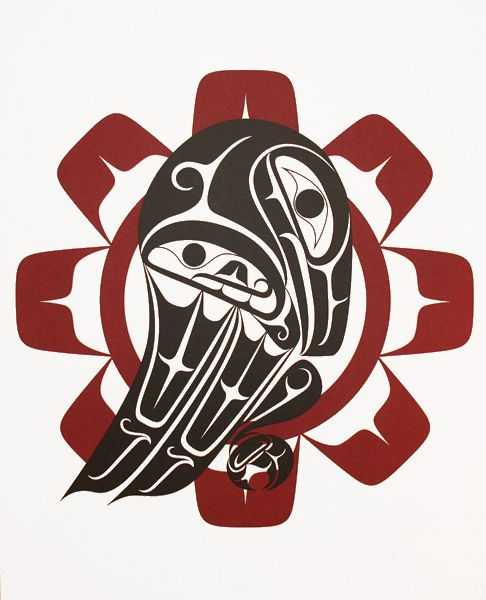 Coastal Peoples Fine Arts Gallery - Karla L. West - Raven and the Sun