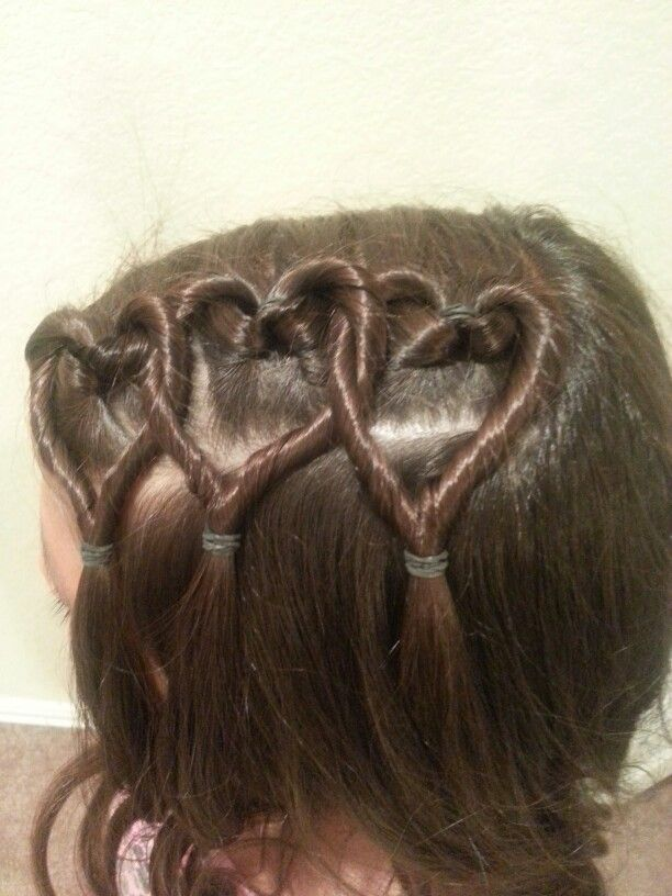 I'm gonna try doing this to Aris's hair today for the first day of school, hope it turns out:)!