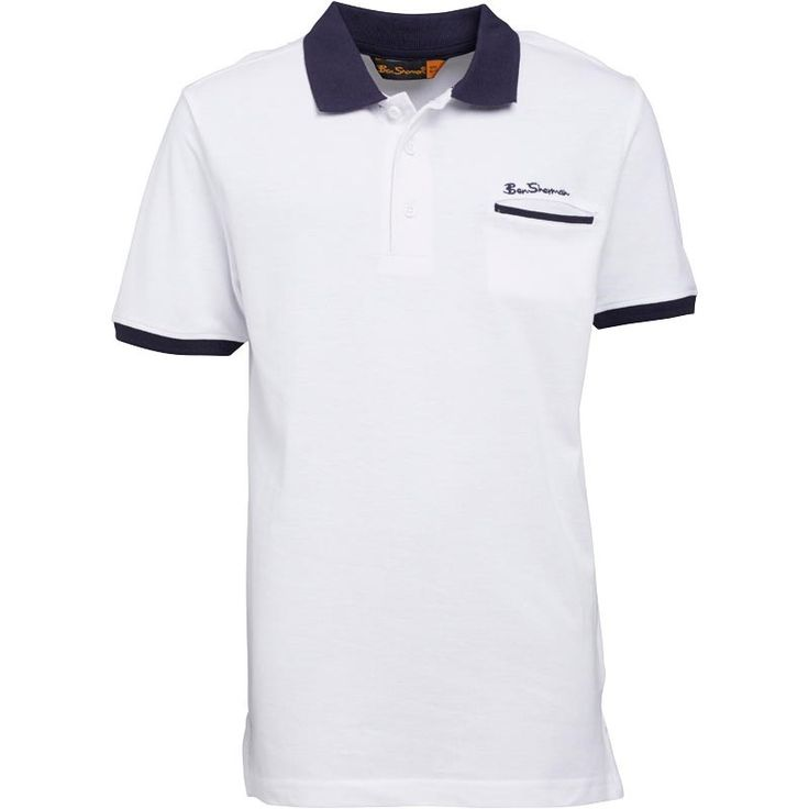 Ben Sherman Boys Jet Pocket Polo Bright White Ben Sherman short sleeve polo with contrast collar sleeve and pocket detailing. http://www.MightGet.com/february-2017-2/ben-sherman-boys-jet-pocket-polo-bright-white.asp