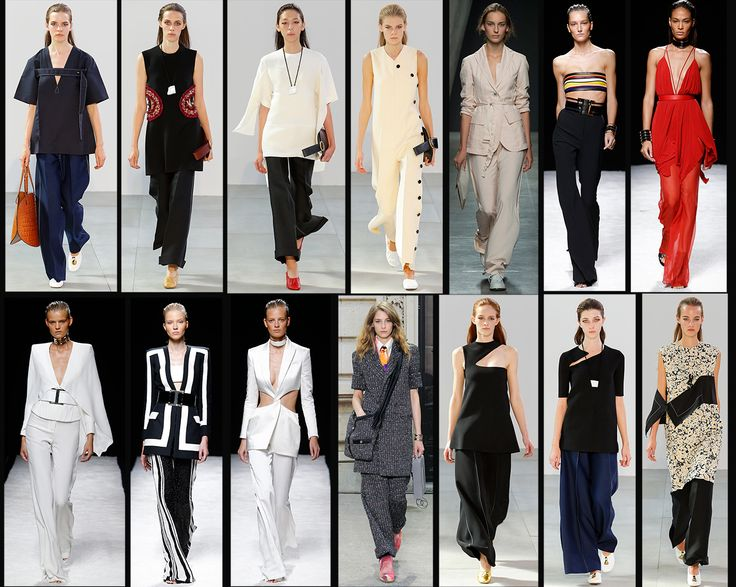 "So ""wide-leg pants"" are back!  I pantaloni a gamba larga sono tornati!"