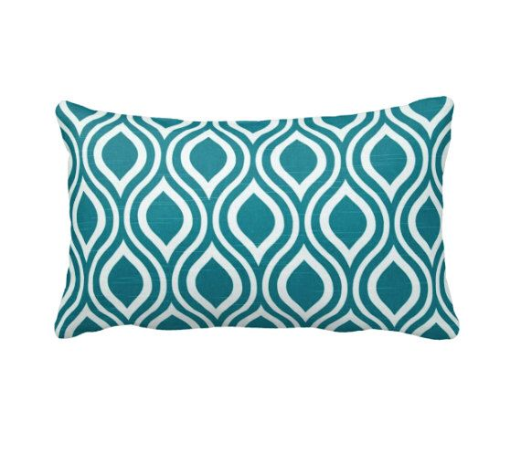 Teal Green Pillow Cover Teal Throw Pillow Cover Decorative Pillows for Bed Teal Pillows Teal Home Decor Teal Lumbar Pillows 12x20 Pillow by ReedFeatherStraw on Etsy https://www.etsy.com/listing/474572773/teal-green-pillow-cover-teal-throw