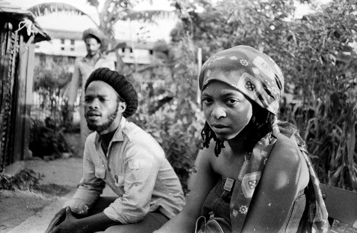 "Many do not know about Ian ""Natty Wailer"" Wynter, ghost member of The Wailers who recorded and toured with Bob Marley as a keyboard player for nine years recording numerous albums with Nesta and also Family Man. Here IAN WYNTER with legendary PUMA JONES at 56 Hope Road, Kingston, 1979.  © Lindsay Oliver Donald"