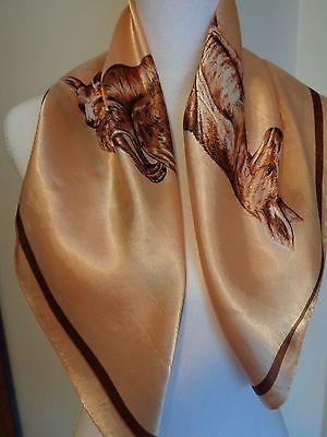 Vintage Australian Kangaroo Scarf with hand rolled edges