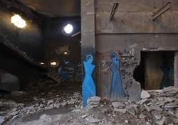 Graffiti against suppression in Afghanistan (Made by Shamsia Hassani and Qasem Foushanji)