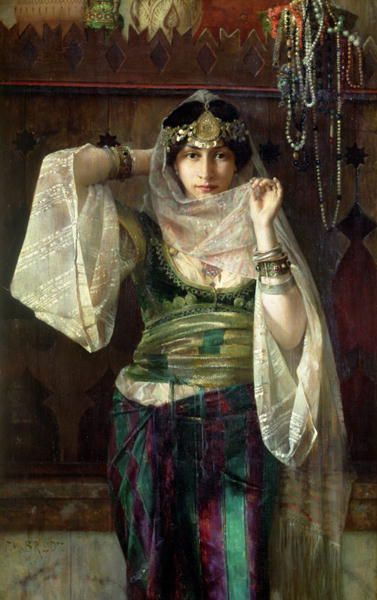 Ferdinand Max Bredt -The Queen Of The Harem Beautiful costume, although Orientalism is not reality.