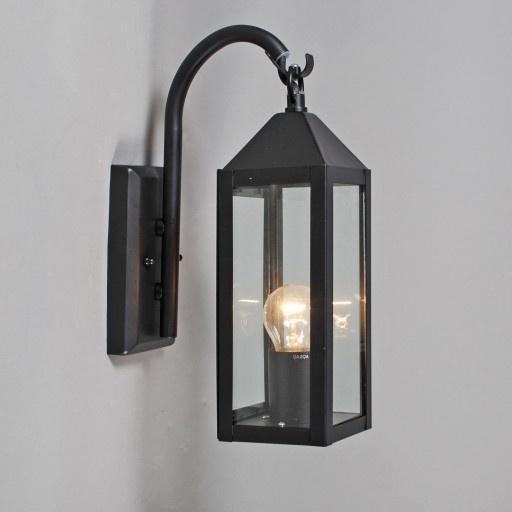 Buitenlamp Bussum wand zwart - Lampenlicht.be