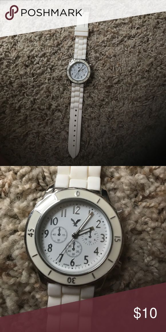 White watch White American Eagle watch never worn great condition. Will probably need new batteries soon but other than that it's perfect! American Eagle Outfitters Accessories Watches