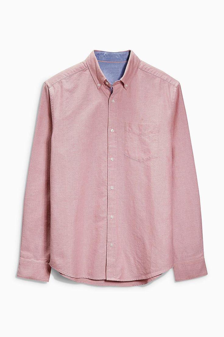 Langärmeliges Oxford-Hemd  100% Baumwolle.  Klassisches Hemd aus elegantem Oxford-Gewebe mit Button-Down-Kragen und Kontrastdetails....
