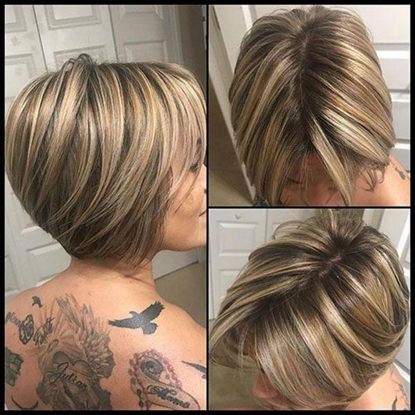 60 Neue Kurze Blonde Frisuren 2019 Short Bob Haircuts Bobs Haircuts Bob Hairstyles For Fine Hair