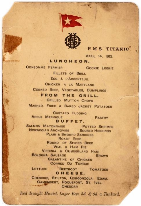 Más de 103 años después de que se hundiera el Titanic, aún siguen existiendo objetos del barco para cambiar de manos. El 30 de septiembre se subastarán varios de ellos, incluyendo