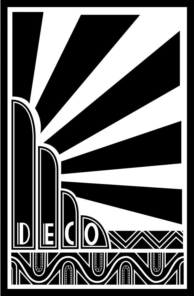 Art Deco sun ray graphic