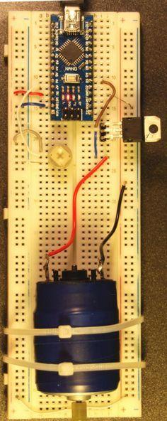 Motor speed control using Arduino Nano and transistor
