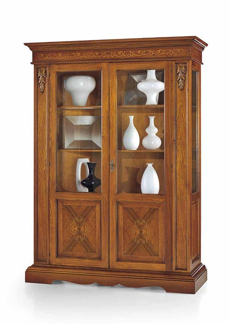 Έπιπλα Σπιτιού - Βιτρίνα Ξύλινη με 2 πόρτες Decor Classical Collection