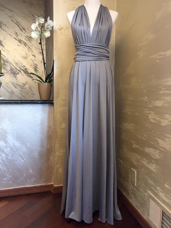 9124e05d3db Floor Length LONG Ball Gown Maxi Infinity Dress Convertible Formal ...
