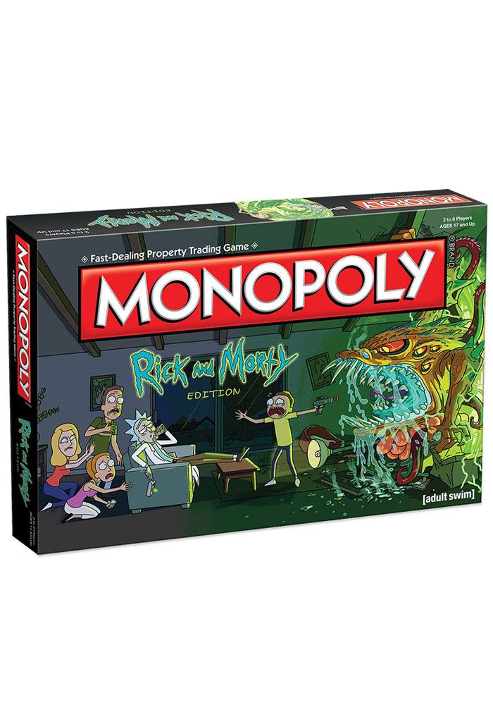 Join Rick and Morty and the Smiths as you gallivant your way to victory by buying, selling and trading locations from the Multiverse including the Cromulon Dimension, Gazorpazorp and Planet Squanch (n