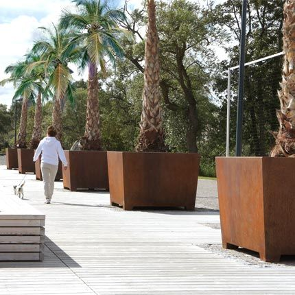 Love Tubs Have A Tapared Square Shape And Will Look Splendid With  Multi Stemmed Trees. In Larger Projects, The Planters Can Be Equipped With  Letters Or A ... Nice Ideas