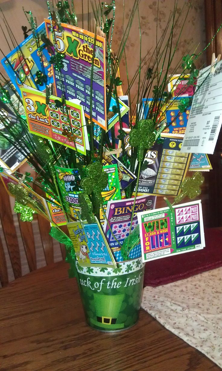 Lottery ticket tree with over 125 scratch offs. Let's hope there are some big winners in there!