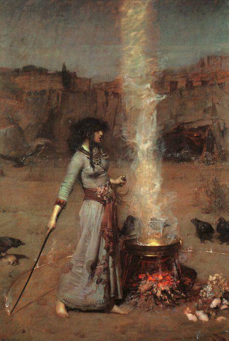Магический круг Джон Уильям Уотерхаус / John William Waterhouse