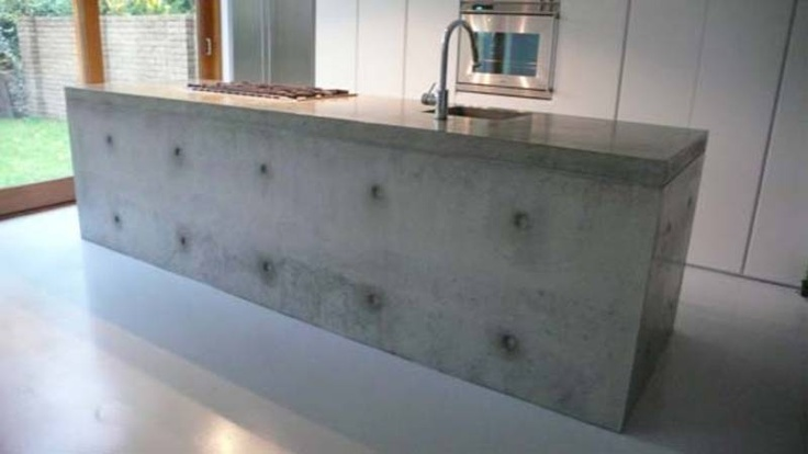 Best 25 polished concrete countertops ideas on pinterest for Polished concrete kitchen countertops