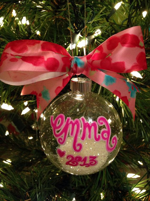Monogram Ornament, Personalized Ornament on Etsy, $15.00