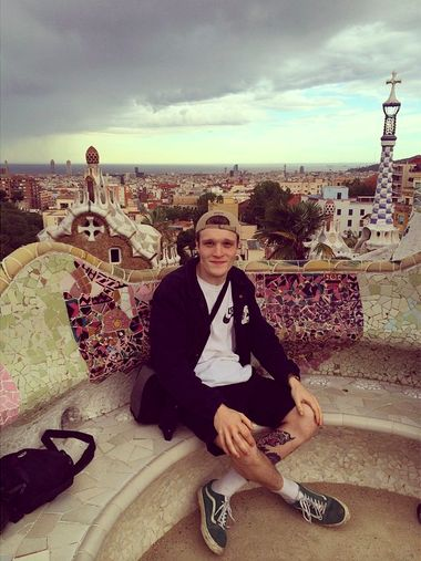 benisneckdeep Park Guell, over a temporarily gloomy Barcelona, we're having a blast nonetheless. niamhholmes