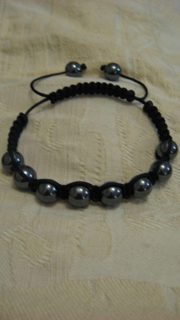 Luxury real hematite bracelet, jewellery,gift,Christmas present,bridesmaid gift,thankyou,steampunk by LovenLightFabrics on Etsy