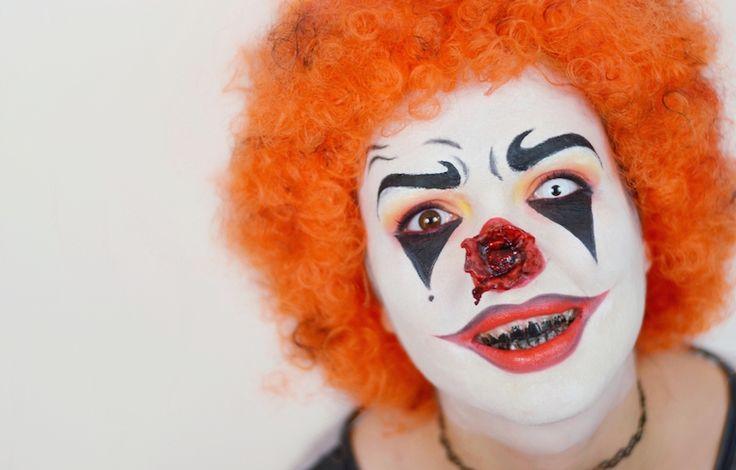 Halloween_Make_Up_Horror_Clown_selbstmachen_schminken_Vorlage_ViktoriaSarina_YouTube
