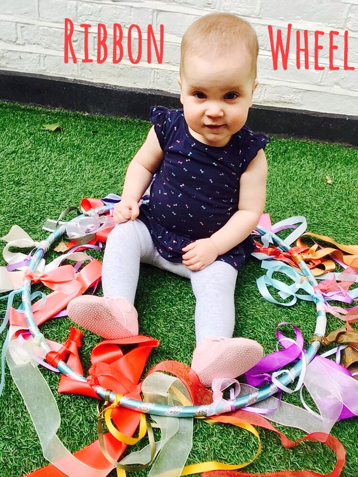 Simple sensory fun - you just need a hula hoop (we used one left over from our DIY giant bubbles ) and some ribbon. I then left the ki...