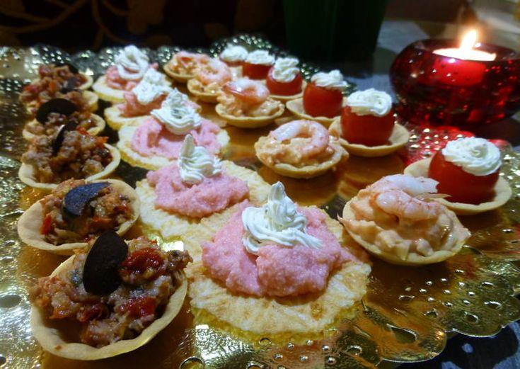 Canapés variados de navidad en 20 minutos
