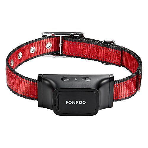 FONPOO FP680S Beep and Shock Automatic No Bark Collar Control with 7 Sensitivity Adjustable Levels for Medium Large or Small Dogs 15-150 Pound Dogs