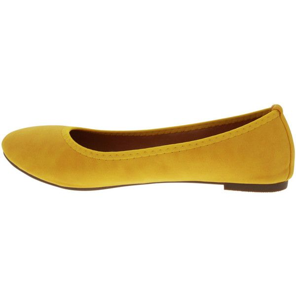 Angelina Women's Epson 1 - Yellow - size 5.5 (100 TND) ❤ liked on Polyvore featuring shoes, flats, yellow, ballet shoes, formal flats, vegan shoes, ballet flats and yellow flats