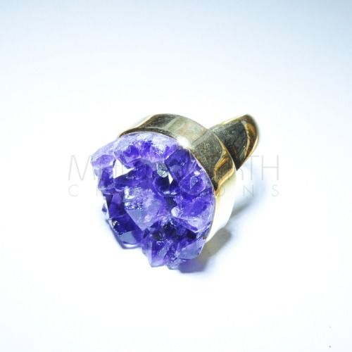 The Midas Touch - Amethyst cluster knuckle duster!