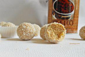 Kakukkfű: Cappuccino golyók pirított kókusszal (cukormentes)