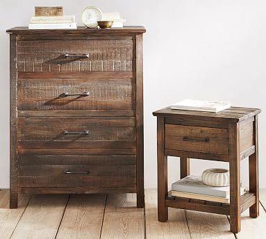 Paulsen Reclaimed Wood Nightstand Potterybarn Easy Woodworking