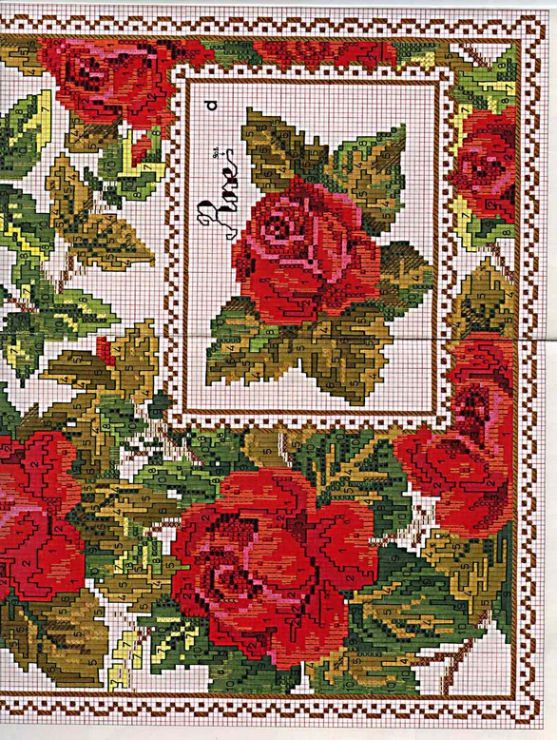 roses for tablecloth
