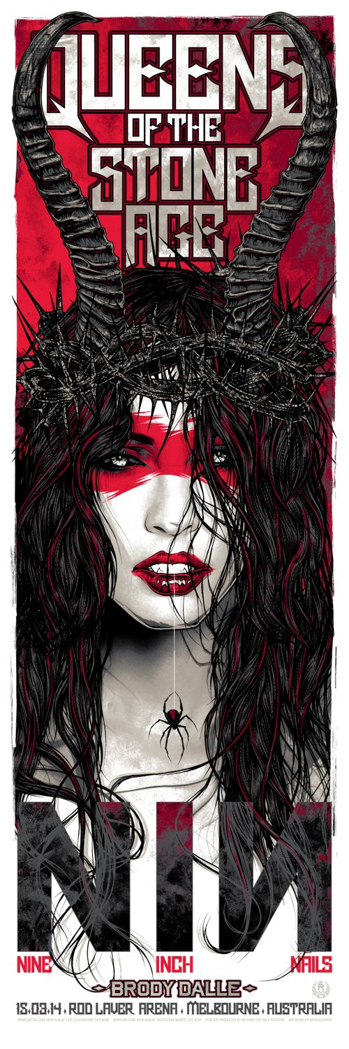 Nine Inch Nails / Queens of the Stone Age Posters by Rhys Cooper