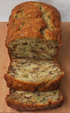 Banana zucchini bread. Substituted sugar with Splenda brown sugar blend, and whole wheat flour for all-purpose white. Perfection!!!