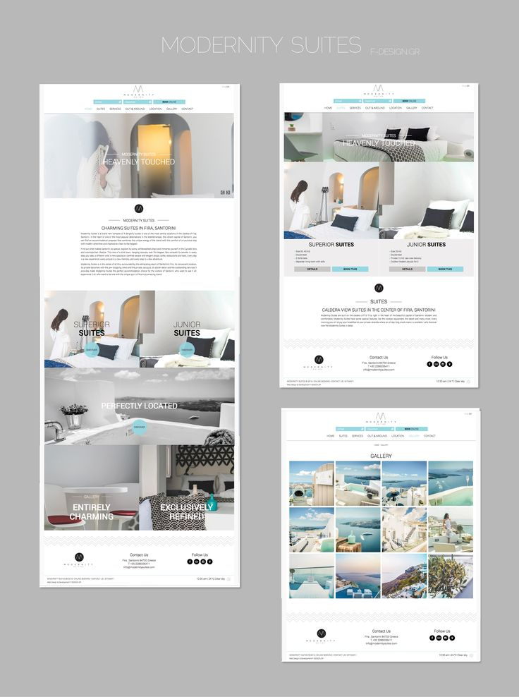 F-Design website for Modernity Suites in Santorini! www.modernitysuites.com #santorini #website #webdesign #design #santorini
