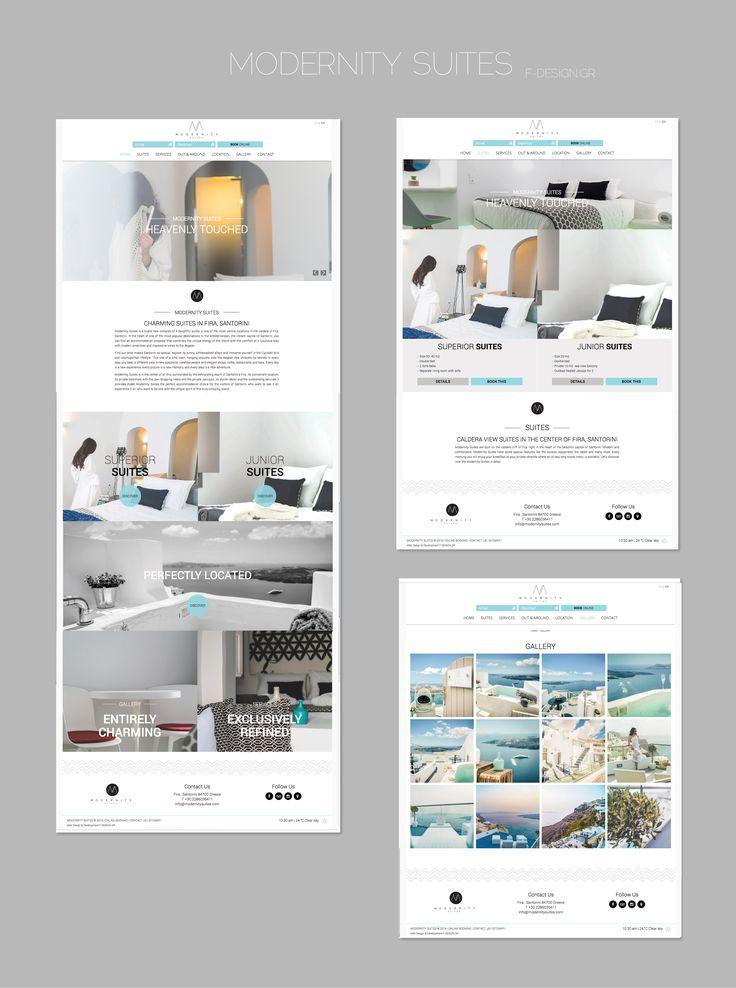 F-Design website for Modernity Suites in Santorini! www.modernitysuites.com #santorini #website #webdesign #design #santorini