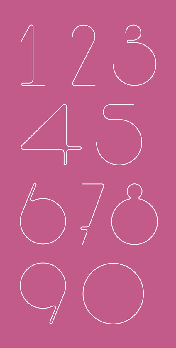 number font fro APK tattoo - Karolien Pauly on Behance