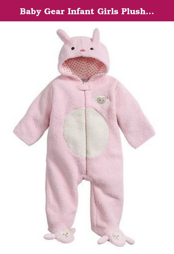 Baby Gear Infant Girls Plush Pink & Ivory Faux Shearling Lamb Snowsuit Baby Pram 6-9m. This soft baby girls plush pink and ivory faux fur pram features an embroidered lamb face on the front and slipper feet, pink polka dot lined hood with lamb ears, and fold over mitten tops. Perfect for keeping your baby warm on cold winter days! Infant girl's sizes 100% polyester fleece exterior, 100% cotton lining Zippered front Attached lined hood with lamb ears Built in slipper feet Perfect for…