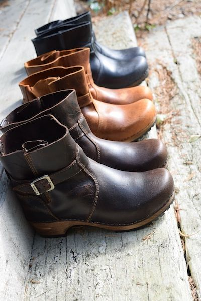 Where have you been all my life??? I'm pretty sure I need these.  Sanita Mina Clog Boots available at Lotta From Stockholm