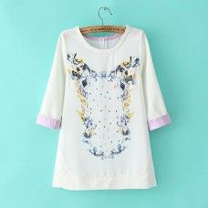 Color Print Blouse is so chic, with her cute print