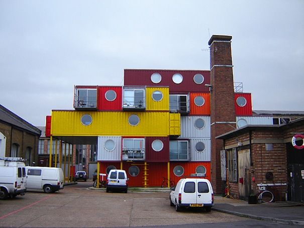 Container City, London - flexible low cost accommodations and offices